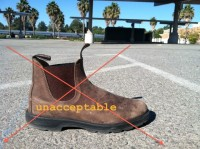 unacceptable boot
